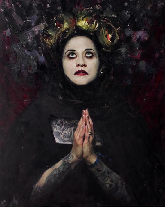 Chantal Mourning Portrait all black